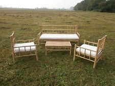 Bambus Gartenmöbel Gartenset Balkonmöbel Balkonset Sitzgarnitur Holzmöbel