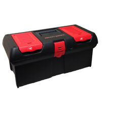 Lockable Tool Box 16-in Project Source Black Plastic Removable Tray New