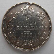 CANADA SILVER 5 CENTS 1913
