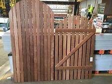 Merbau Solid Fence Gates Curved Top Closed Slat 1500x900mm