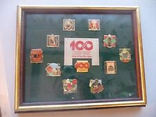 VINTAGE COCA COLA COKE PIN SET OF 10 CENTENNIAL PINS OF THE DECADES 1886 - 1986