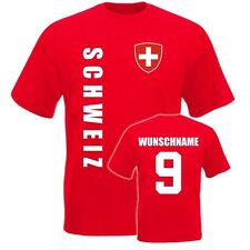 SCHWEIZ  Kinder  BABY T-SHIRT Trikot - WM 2014 - NAME + NR  Gr.  92 98 104 116