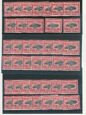 TONGA 1942 1d TREE SG75 UNMOUNTED MINT...40 stamps cv £100...L1