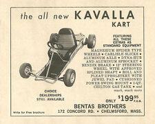 Vintage & Very Rare 1962 Kavalla Kart Go-Kart Ad