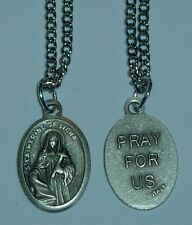 St Catherine of Siena Holy Medal &Chain Patron of Nurses Firefighters & the Sick