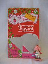 vintage 1982 STRAWBERRY SHORTCAKE skateboard w/ card PVC miniature Kenner figure