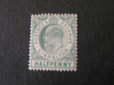 GIBRALTAR, SCOTT # 39, 1/2p. VALUE GREEN KEV11 1907 ISS. MVLH