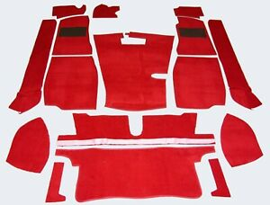 Red Carpet Set - High Quality (Fits MG MGB Roadster )