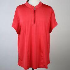 JAMIE SADOCK Red Quick-Dry Zip Neck Golf Top XL