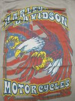 Harley-Davidson - Oconomowoc Wisconsin - Eagle & Flag Women's Small Gray T-Shirt