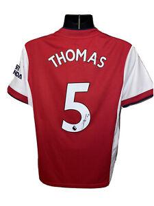 Signed Thomas Partey Arsenal 21/22 Home Shirt Proof