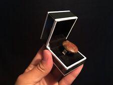 Bague femme réglable Argent Os dinosaure fossile !! Dinosaur Bone fossil ring!!