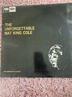 """The Unforgettable Nat King Cole Vinyl 12"""" Record Commentary Alan Dell W20664"""