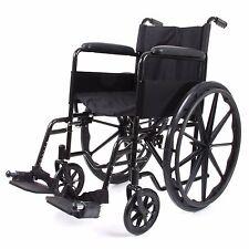 Folding Wheelchair Self Propelled Lightweight TRANSIT Footrest Armrest Brake UK Silver