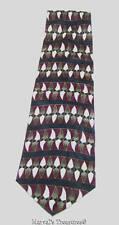"""Savile Row Mens 100% Silk Neck Tie Maroon Brown Black Stripe Tie 56"""" Long"""