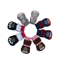 4Pcs Pet Dog Cat Cotton Anti-slip Knit Weave Warm Sock Skid Bottom More Style