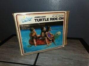 Vintage 1986 New in Box The Wet Set Intex Inflatable Float TURTLE Ride On 67x56