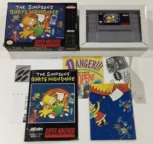Simpsons Bart's Nightmare Super Nintendo SNES CIB 100% Complete