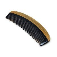 Verde naturale legno di sandalo pettine del corno di sandalo capelli lisci  K7B3