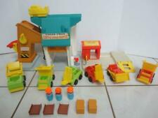 Vintage Fisher Price LIFT and LOAD DEPOT & LUMBER YARD Huge Parts Lot