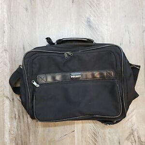 Delsey Black Overnight Duffle Carry On Bag w/Shoulder Strap