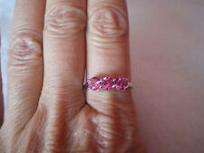 Mystic Pink Topaz ring, Size R/S, 1.73 carats, in 2.1 grams of 925 Sterling Silv