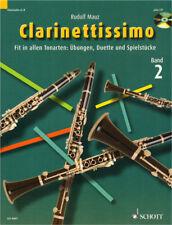 Rudolf Mauz Clarinettissimo Band 2 Etüden für Klarinette Schule Noten mit CD