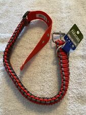 Dog Collar Navy Blue Paracord Adjustable Size XL Metal Buckle Wordpet