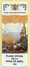 España Expo 92 Sevilla Plano Oficial de la Feria de Abril del año 1992 (DE-229)