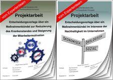 Projektarbeit Geprüfter Betriebswirt & Präsentation IHK Unternehmensführung