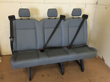 2015 2016 Ford Transit Van 3 Person Couch Bench Seat Gray Vinil  INV#2