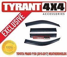 Toyota Prado FJ150 Tinted Weather Shields Window Visors Slim Line Strips GLX GXL