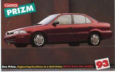 Postcard 1993 Geo Prizm Advertising, Unposted
