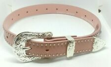Nocona Girl's Pink Rhinestone And Stud Belt Style- N4420430