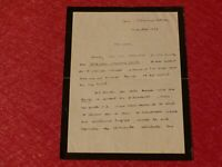 LETTRE AUTOGRAPHE SIGNEE HENRI GOUHIER (Philosophe Historien) 1929