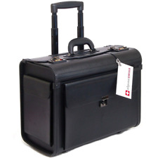 Alpine Swiss Roller Laptop Briefcase One Size Wheeled Upright - Black