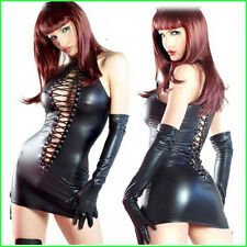 TENUE 38 40 SIMILI CUIR + 2 GANTS  BONDAGE VINYLE LINGERIE BDSM SEXY WOMAN DONNA