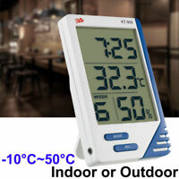 Digital LCD Thermometer Hygrometer Humidity Meter Indoor Temperature Clock RF