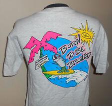 VTG 80s Brenecke's ~ Poibu Beach ~ Kawai Hawaii -Beach/Surf Resteraunt T Shirt