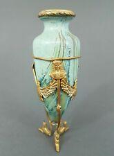 Kerkamik Vase, vergoldete Bronzemontierung im Empirestil, ägyptisierend, um 1900