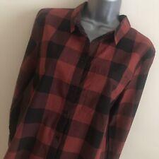 Ichi Ladies Red & Black Check Shirt ~ Size 40 (12) L ~ Cotton ~ BNWT