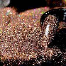 Holographic Dark Coffee Nail Glitter Powder DIY Manicure Supplies AB Glitter N57
