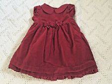 NWT GYMBOREE Festive Holiday Red Rosette Velveteen Cotton Dress Girls 12-18 Mos