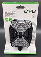 Evo E-Sport X Flat Resin Cruiser/Exerciser Bicycle Pedal New