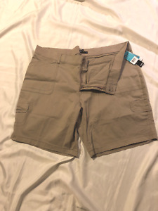 Lee Bermuda Shorts, 24WM, Flax: Women Just For You Relaxed Fit, Part Knit Waist