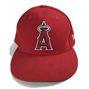 Los Angeles Angels MLB New Era 2017 Collection On Field Game Cap Hat 7 3/8 Red