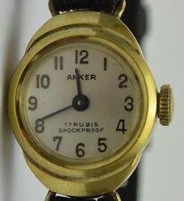 ANKER 17 Rubis Shockproof - Damenuhr / Handaufzug / Edelstahl vergoldet