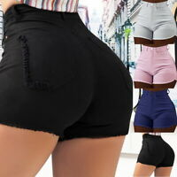 Woman Sexy High Waisted Denim Jeans Shorts Summer Casual Stretch Hot Short Pants