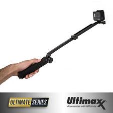 3-Way GoPro Osmo Action Flexible Tripod Extension Monopod Selfie Stick Hand Grip