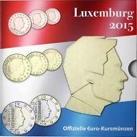 Luxemburg 2015 Euro KMS 1 Cent bis 2 Euro Sondersatz im Folder